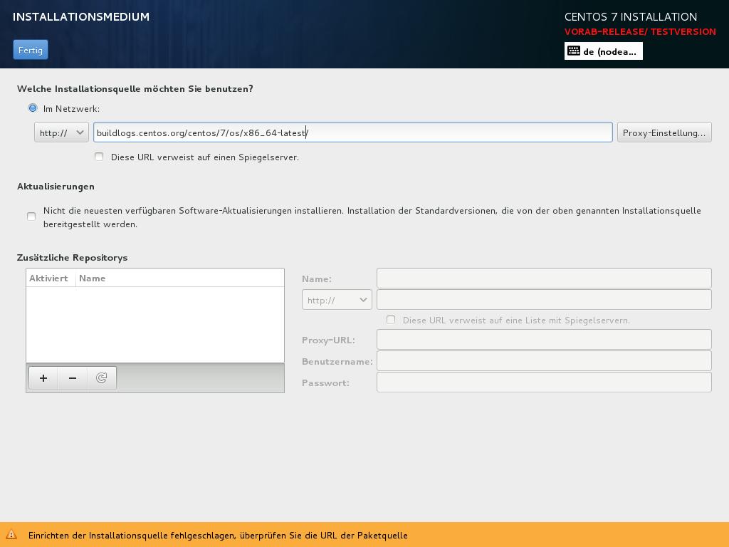 no yum repositories in minimal-installation - CentOS