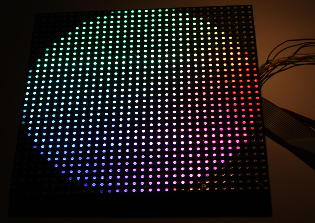 32x32 rgb led panel mit arduino ansteuern. Black Bedroom Furniture Sets. Home Design Ideas